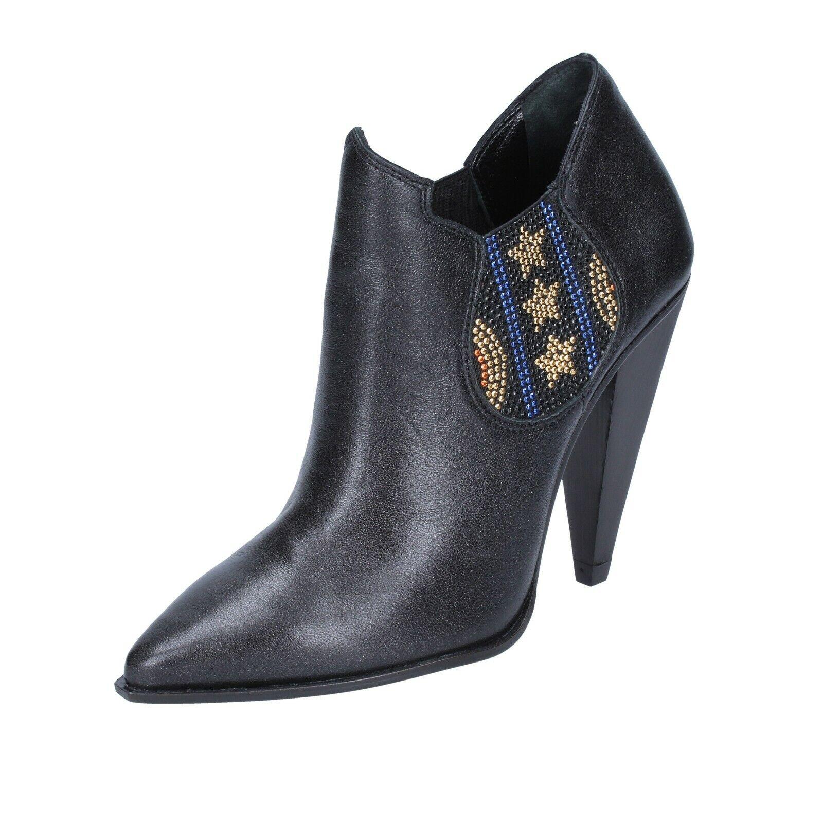Women's shoes MARC ELLIS 7 (EU 37) ankle boots black leather BS597-37