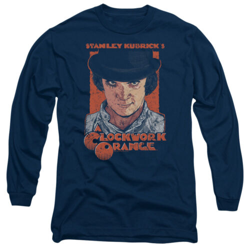 A Clockwork Orange Movie SINISTER STARE Licensed Adult Long Sleeve T-Shirt S-3XL