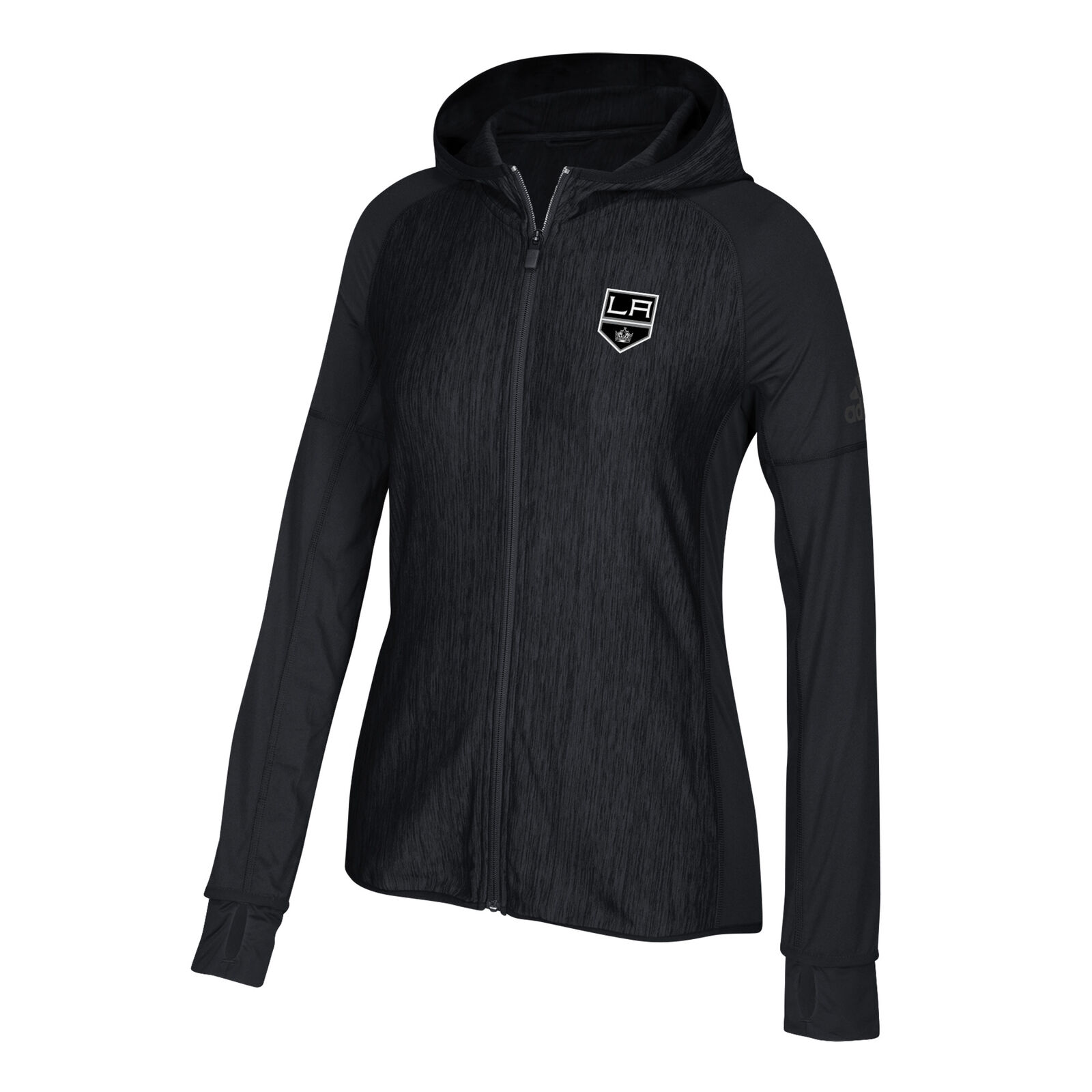 competitive price 79940 f72e1 Los Los Los Angeles Kings adidas Womens Vertical Heathered Full Zip Hoodie  S 72ce50