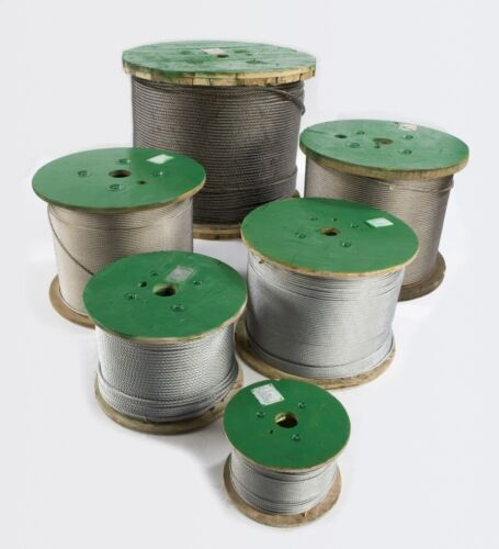 1//8   7x19 galvanized airlne cable 200 Ft plus