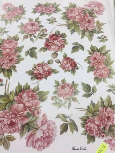 30x40 con fiori rosa cd carta per Decoupage Decomania cm 876