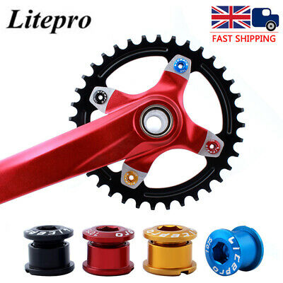 10Pc Bike Bicycle Crank Arm Bolts CNC Single//Double Chainring Crankset Screw