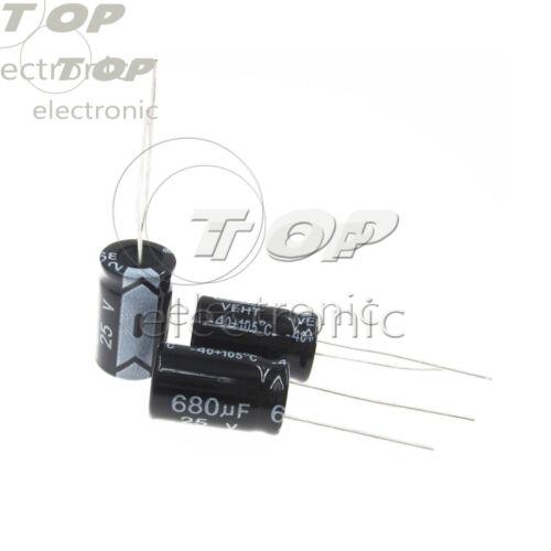 50PCS Electrolytic Capacitor 100//220//330//470//680//820//1000//3300uF 10-50V