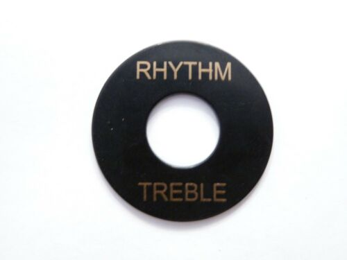 Les Paul Toggle Switch Plate Washer Trim Ring Blk w//gold U.S Seller!!!!