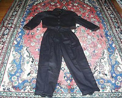 GORDON HENDERSON CHOCOLATE BROWN WOOL PANTS SUIT MED 8 VINTAGE