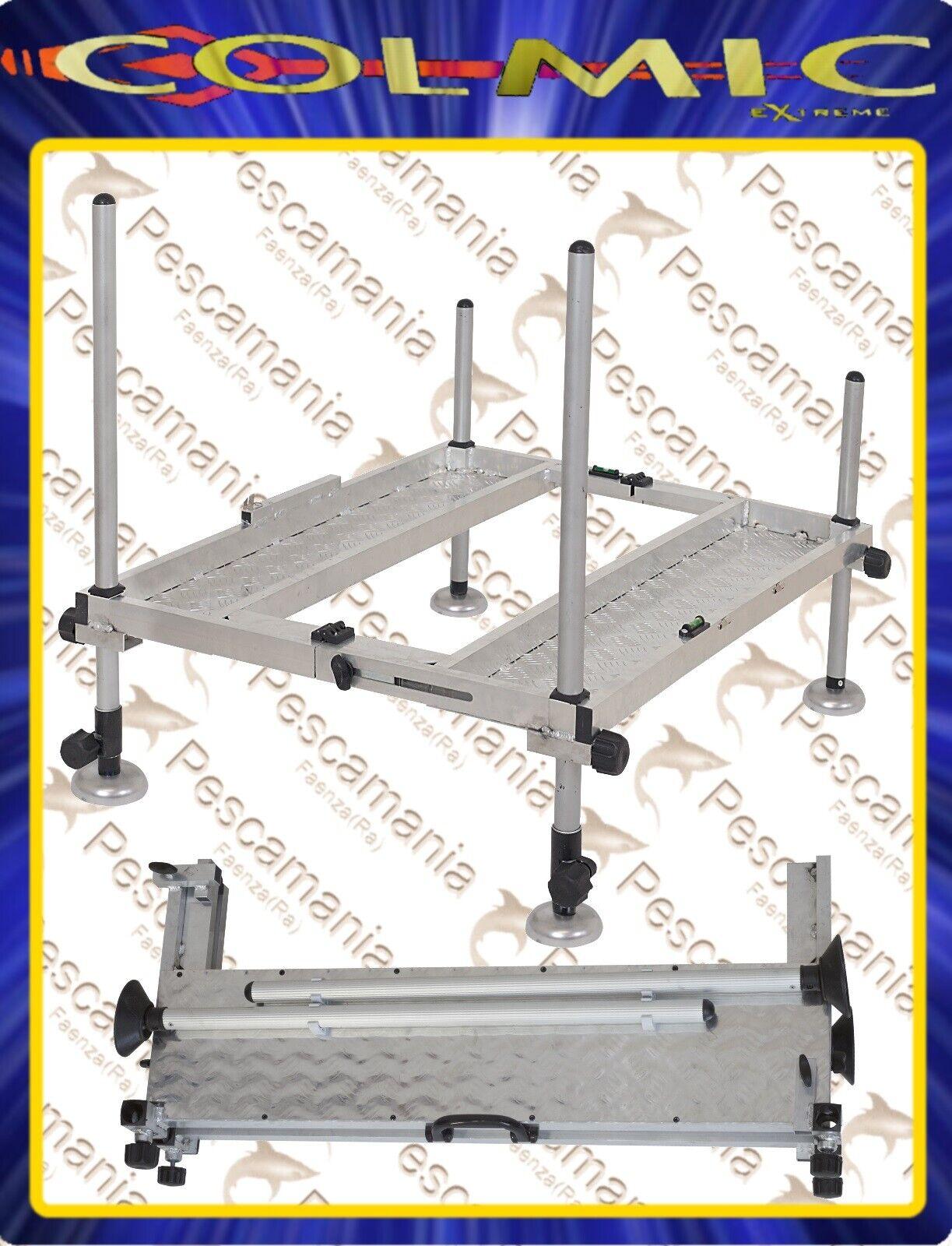 Pedana in tuttiuminio per paniere da pesca Colmic Folding PRO cm 75x95 piattaforma