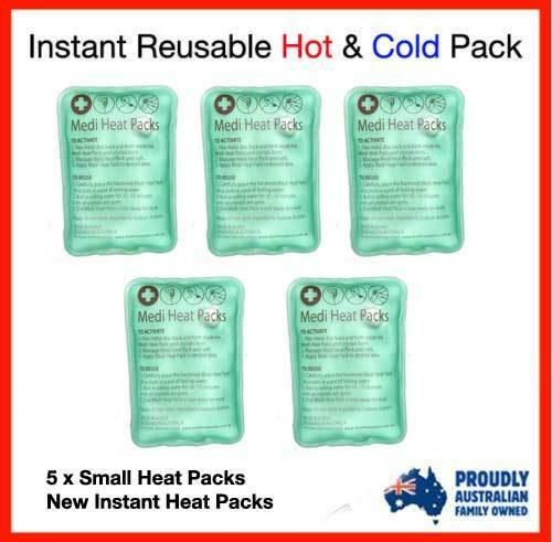 5 X BEST BRAND NEW INSTANT HEAT PACKS - Great for Hand warmer ,Camping, Outdoor