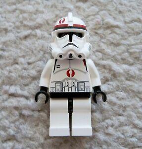 Lego Clone Trooper with Dark Red Markings Lego Star Wars Minifig Set 7250