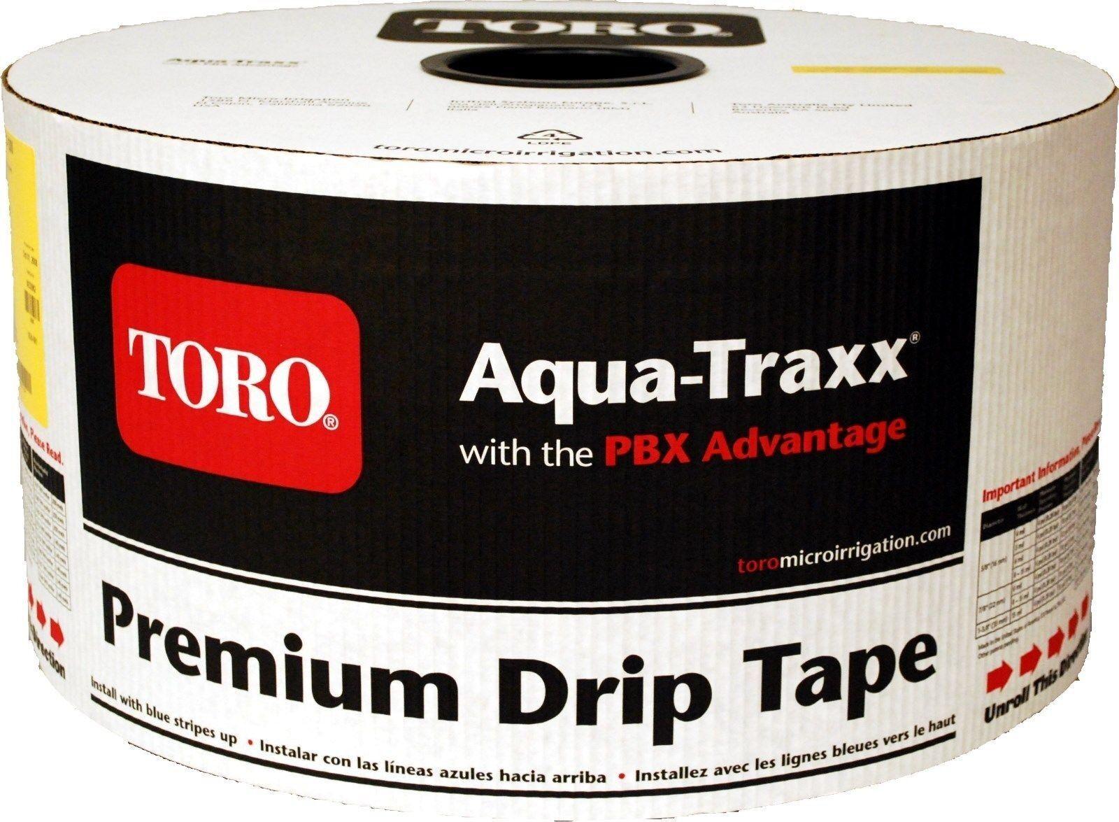 Toro Aquatraxx 5 8  línea de cintas de riego por goteo 16  0.170GPM 15MIL 4000FT Jardín