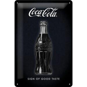 Chapa-escudo-coca-cola-sign-good-taste-nostalgia-escudo-30-CM-nuevo-metal-shield
