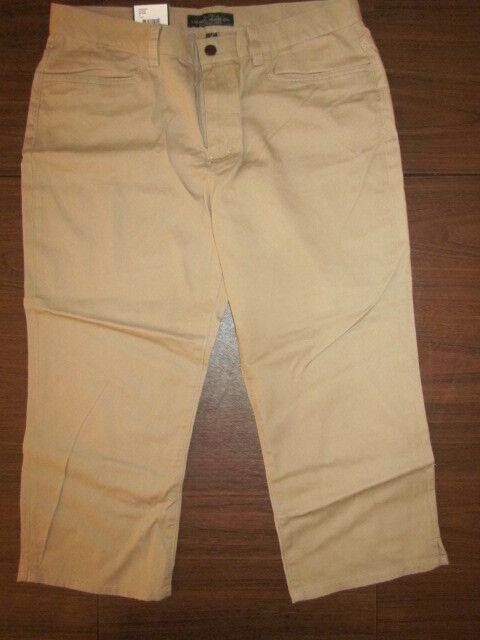 RALPH LAUREN Women Classic Midcalf Pants Khaki 12  VINTAGE NEW with TAG