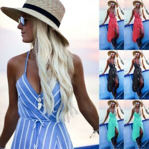UK-Womens-Boho-Maxi-Dress-Evening-Cocktail-Party-Beach-Dresses-Summer-Sundress