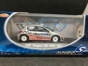PEUGEOT-206-WRC-2002-1-43-SOLIDO-Rallye-2-Gronholm-NEUF-N-1586