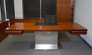 Image Is Loading Warren Platner Executive Rosewood Desk Credenza