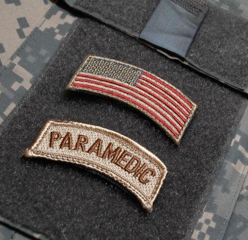PARAMEDIC US FLAG KANDAHAR-WHACKER© PRO-TEAM ARMY COMBAT RESCUE PEDRO DD TAB