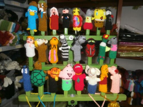 LOT OF 500 FINGER PUPPETS FROM PERU HANDKNITTED FREE SHIPPING WE HAVE STORE