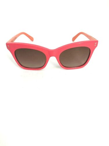 STELLA MCCARTNEY Women's FALABELLA PINS PINK ORANGE Logo SUNGLASSES NEW