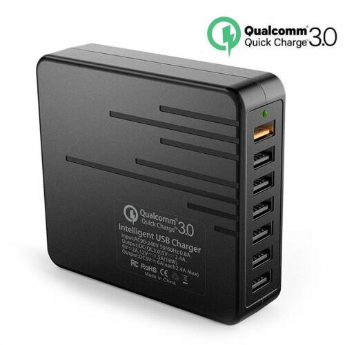 7-Port High Speed Intelligent Multiple USB Desktop Charging Station Power Adapte