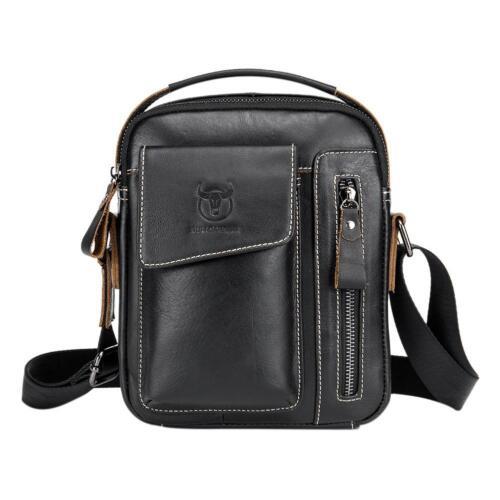 Men/'s Leather Messenger Crossbody Briefcase Bags Handbag Satchel Shoulder Bag