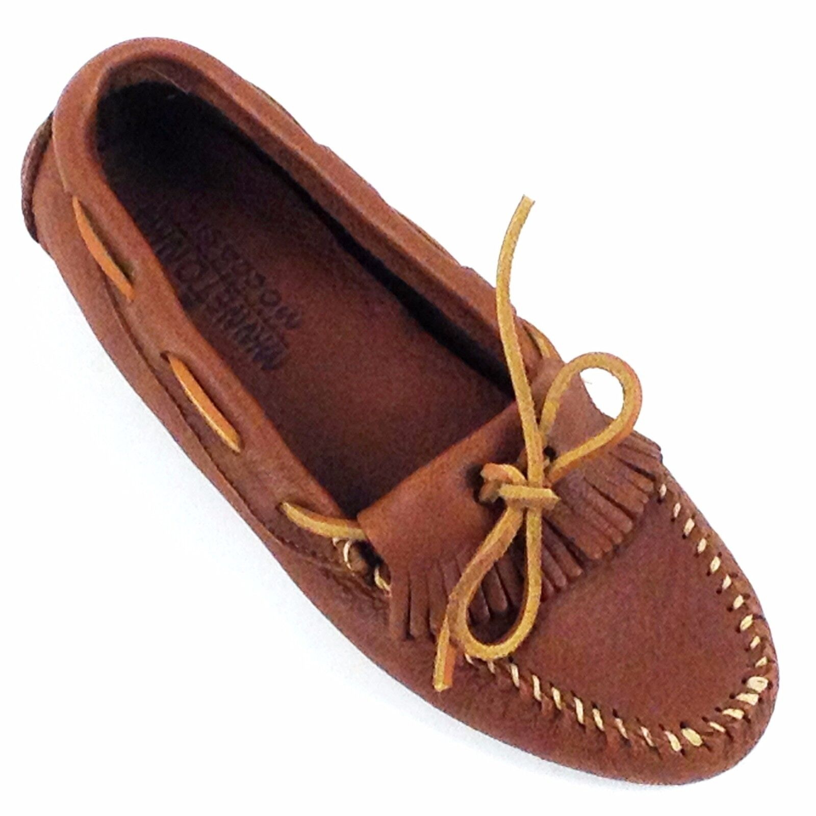 Minnetonka, Women's Moccasin Caramel Deerskin Leather 618