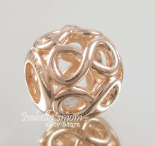 INFINITE SHINE Authentic PANDORA Rose GOLD Plated INFINITY Charm/Bead NEW