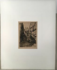 Arthur-Sample-Print-Etching-Old-Cassel-1923-timbered-houses-2