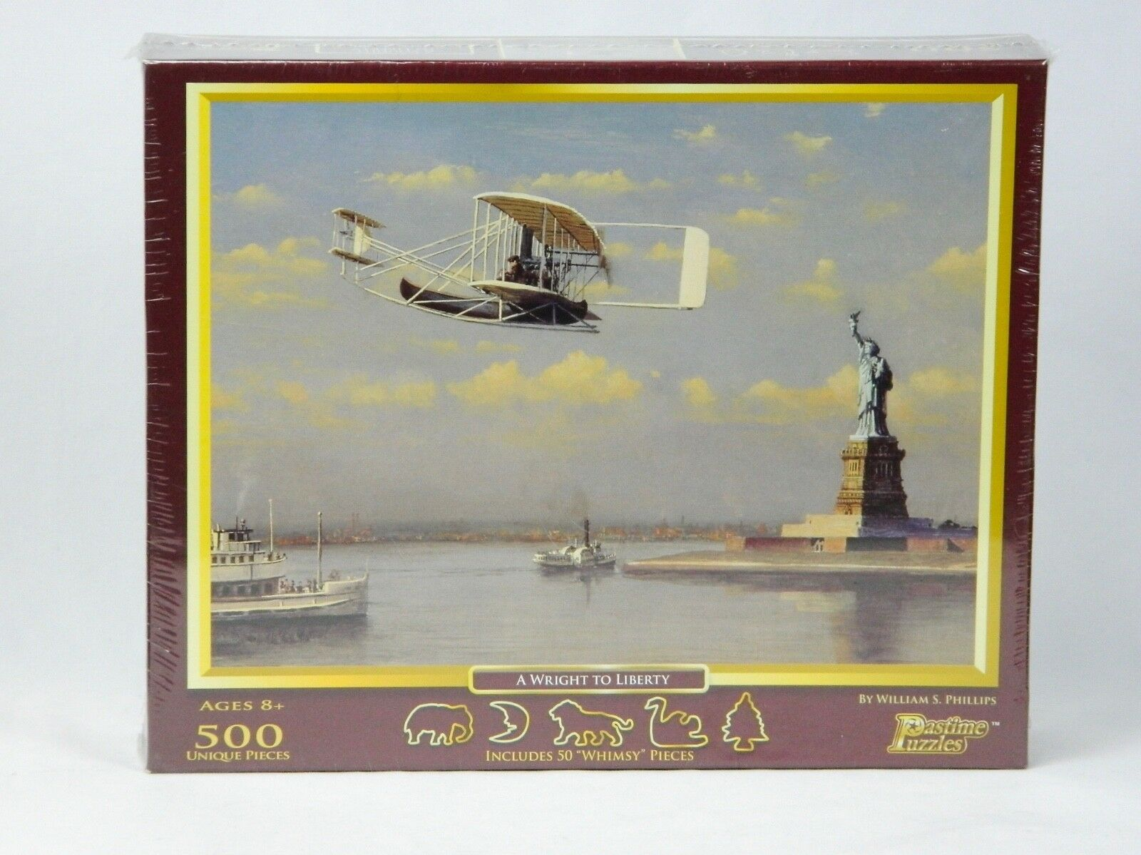 A Wright Wright A to Liberty 500-Piece Puzzle William S. Phillips Pastime 1405fc