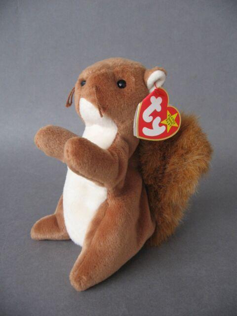d1b69db6962 Original TY Beanie Babies Nuts The Squirrel (birth Date 21st Jan. 96 ...