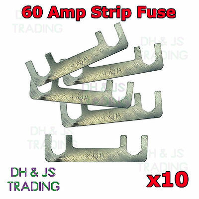 60A STRIP LINK FUSE 60 A AMP CLASSIC CAR METAL FUSES STARTER CHARGER