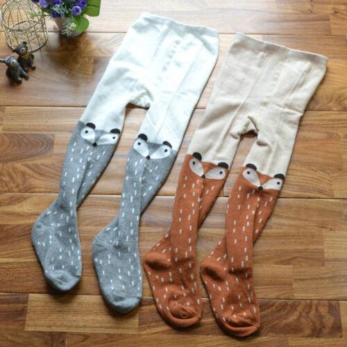 Cute Toddler Kids Baby Girls Fox Pantyhose Pants Hosiery Cotton Tights Stocking