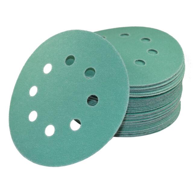 2 NEW ALI Industries 3724 5/'/' 8 Hole 80G Hook and Loop Sanding Discs