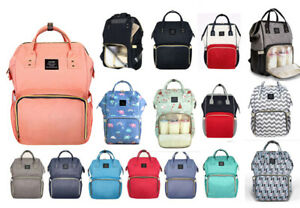 New-Style-Waterproof-Muti-functional-Practical-Baby-Nappy-Changing-Bag-Backpack