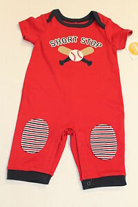 NWT BABY BOYS BABY GYMBOREE SHORT SLEEVED SHORTIE ROMPER AGE 0-3 MONTHS