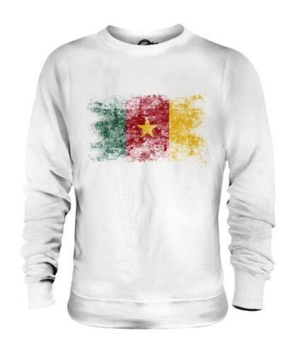 Camerún Bandera Apenada Unisex Suéter Camerún Fútbol Camerunés Camisa