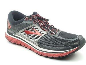a6f700b82ac Brooks Glycerin 14 Mens Running Shoes Black Red Gray 1102361D082 ...