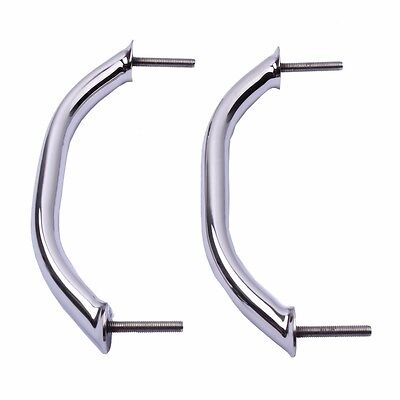 """2x 9/"""" Boat Marine Grab Handle Polished Handrail 316 Stainless Steel Hardware"""