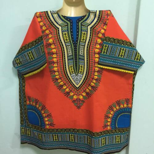 Details about  /MEN SHIRT DASHIKI BLOUSE AFRICAN BOHO CAFTAN TOP HIPPIE PRINT SIZE STYLE VTG 333