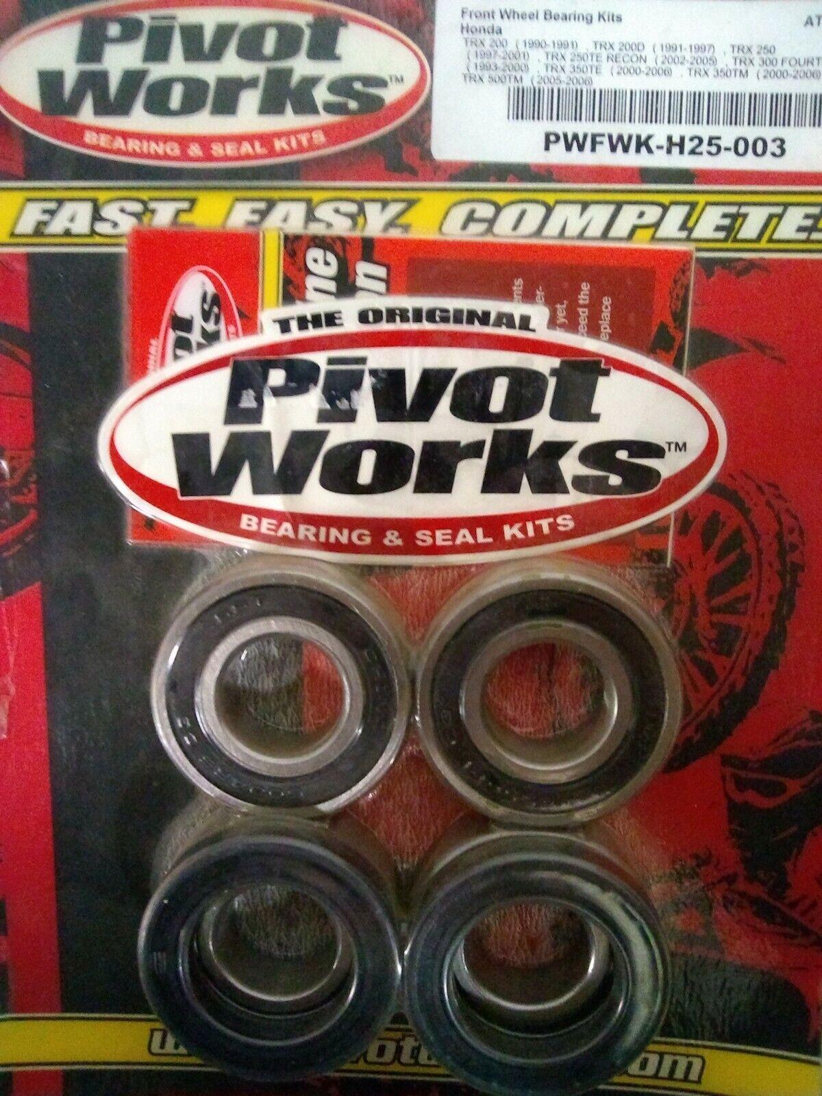 Pivot Works Rear Wheel Bearing Kit for Honda TRX300FW FourTrax 300 4x4 1990-1997