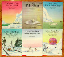 Lot 6 LITTLE POLAR BEAR Picture Books Hans de Beer Big Balloon Little Hare VG L1