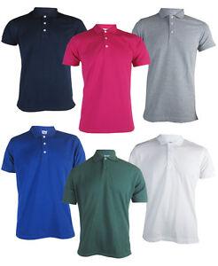 Para-Hombre-034-Russell-034-Camisas-Polo-Clasico-Resistente-Varios-Colores