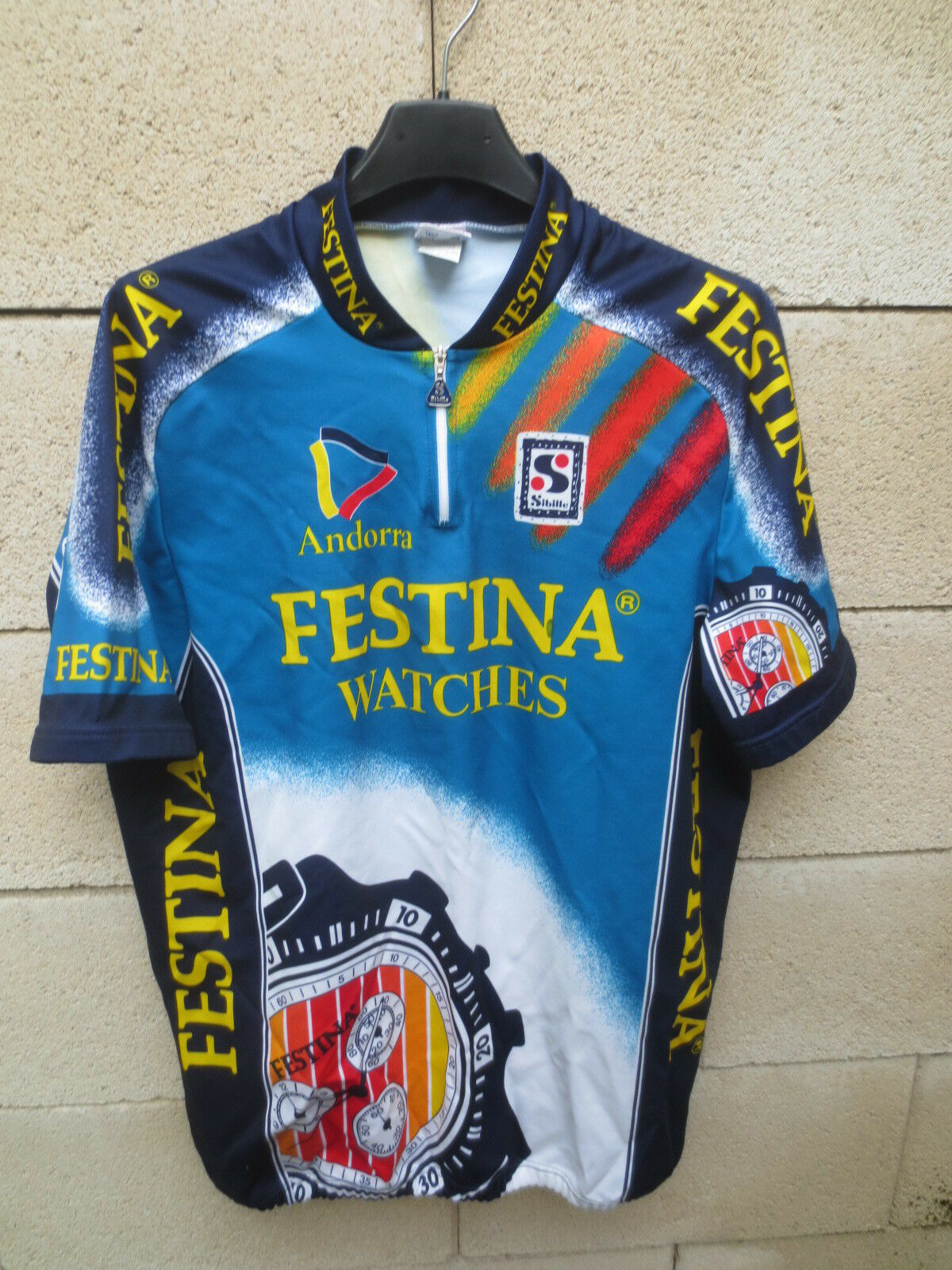 Maillot cycliste FESTINA ANDORRA Tour de France 1994 LEwhite VIRENQUE shirt XXL