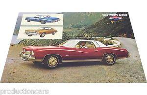 1973-Chevrolet-Monte-Carlo-Original-Poster-Sales-Sheet-Brochure-11x18
