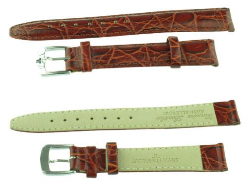 Marken  Uhrenarmband Jacques Lemans Neu 16 mm rotbraun,Schliesse silberfarbe
