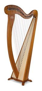 Camac-34-String-Hermine-Harp-in-Cherry-Camac-Bag-Camac-Dust-Cover-Tutor