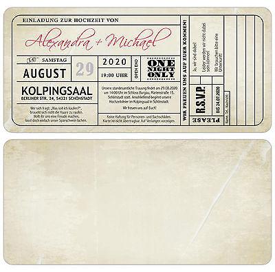"Vintage Carte Invito Al Matrimonio * Biglietto Ticket * * Invito-en Zur Hochzeit • Eintrittskarte • Ticket • Einladung"" Data-mtsrclang=""it-it Mostra Il Titolo Originale"