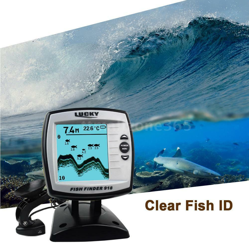 45  Angle 100m Fish Finder Combo Depth Finder Sonar Marine Navigation Tools O9U0