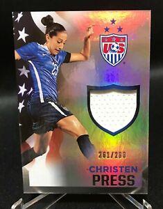 Christen Press 2015 Panini USA Soccer Jersey relic 261/299 Women's USWNT