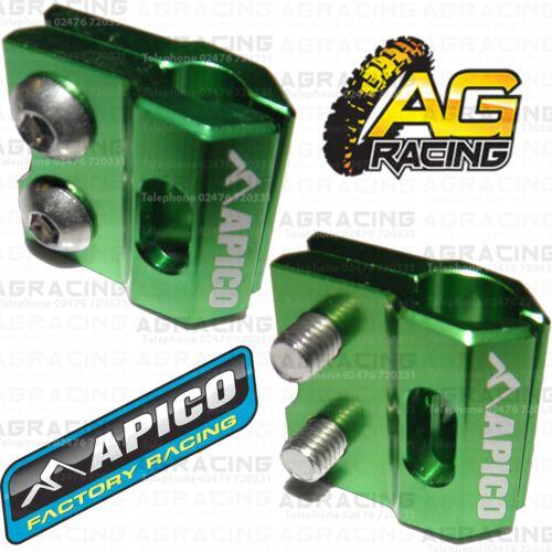 Apico Green Brake Hose Brake Line Clamp For Kawasaki KX 85 2012 Motocross Enduro