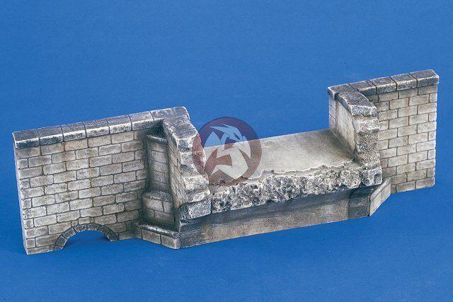 Verlinden 1 35 Blown Bridge Head Section WWII [Plaster Diorama Model kit] 2149