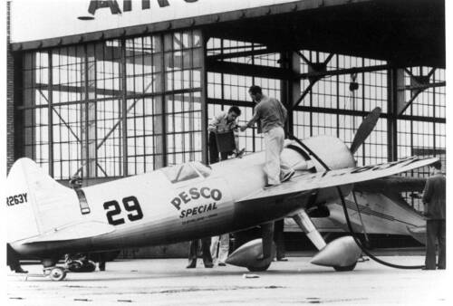 Laird Turner Pesco Special #29 Racing Airplane Old Photo